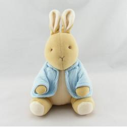 Doudou lapin gilet bleu carotte EDEN