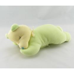 Doudou ours bleu couché SUCRE D'ORGE