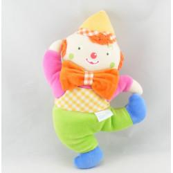 Doudou clown avec anneaux COROLLE