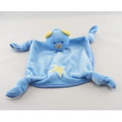 Doudou plat ours bleu étoile jaune COBICO YVES ROCHER