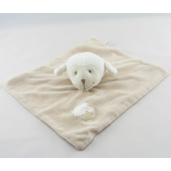 Doudou plat mouton agneau beige blanc BOUT'CHOU