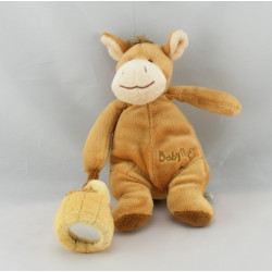Doudou poney cheval beige rouge étoiles BABY NAT