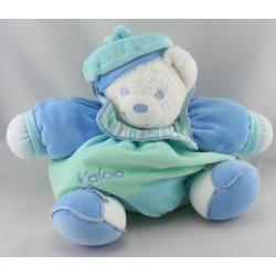 Doudou ours patapouf bleu avec béret Lagoon KALOO