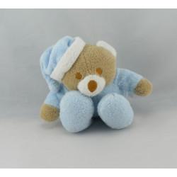Doudou marionnette ours bleu ciel Poudre UN REVE DE BEBE CMP