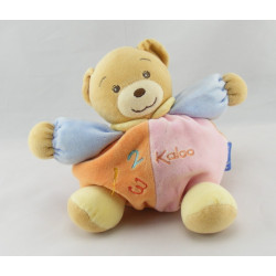 Doudou Ours patapouf orange rose vert abeille KALOO