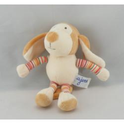 Doudou chien beige avec cape super doudou AJENA