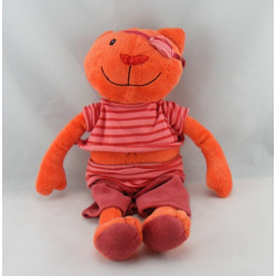 Doudou chat rouge pirate CA CREDIT AGRICOLE 40 cm