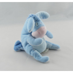 Doudou Bourriquet bleu tres clair l'ami de Winnie Disney Baby