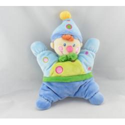 Doudou semi plat clown bleu NICOTOY