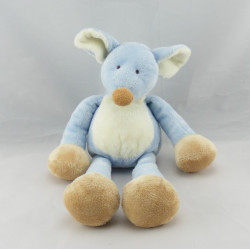Doudou souris bleu Nicotoy 32 cm