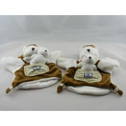 Doudou et compagnie marionnette ours marron avec bébé