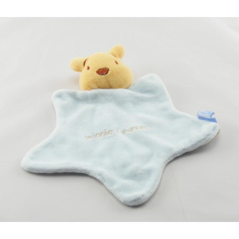 Doudou plat étoile bleu Winnie l'ourson DISNEY BABY