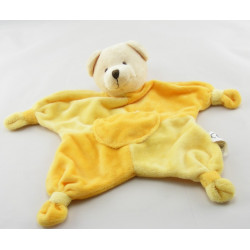 Doudou plat ours beige marron poche CMP