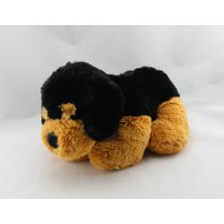 Doudou chien couché beige écru marron GIPSY