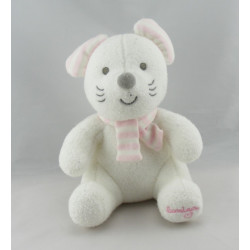 Doudou souris rose robe bonnet LUMINOU JEMINI