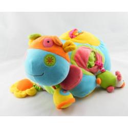 Doudou éveil éléphant multicolore avec souris BAWI