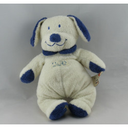 Doudou Chien bleu et blanc Nicotoy The Baby Collection