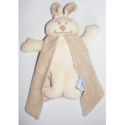 Doudou lapin éponge beige avec cape COMPTINE
