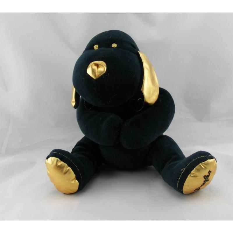 Doudou chien noir et or DOUGLAS