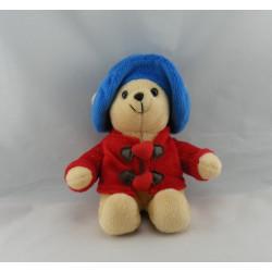 Peluche ours Paddington Bear manteau bleu chapeau rouge 2002