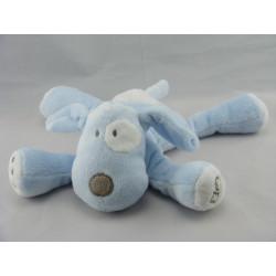 Doudou chien bleu cocard blanc OBAIBI