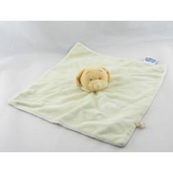 Doudou plat chien blanc vert bonnet NOUKIE'S