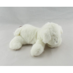 Doudou plat noeud mouton blanc bleu GIPSY