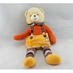 Doudou et compagnie pantin ours orange rayé longues jambes