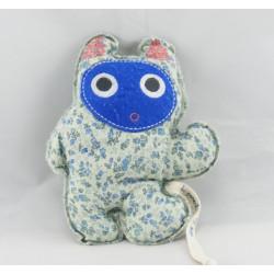Doudou lapin éponge bleu DPAM Du Pareil Au Même