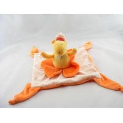 Doudou plat phoque morse orange TOYS LAND