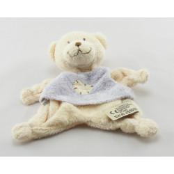 Doudou plat ours beige maillot écru avec coeur KIABI