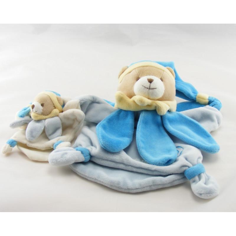 Doudou et compagnie plat ours bleu maman fleur pétale