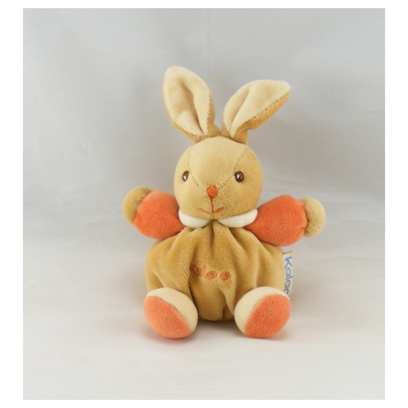 Mini doudou lapin beige orange KALOO 1998