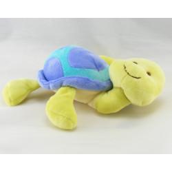 Doudou plat tortue verte violet bleu VETURA