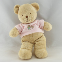 Doudou Ours Beige maillot pull rose fleur brodée Tex
