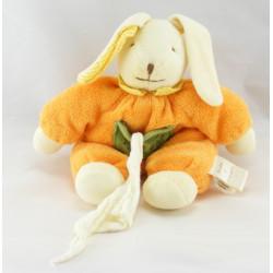 Doudou et compagnie lapin orange vert baby nat