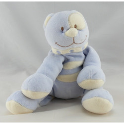 Doudou chat bleu cocard blanc TEX