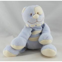 Doudou chat bleu cocard blanc TEX