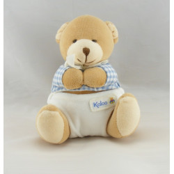 Doudou bébé ours pull vichy bleu couche KALOO 1998