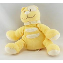 Doudou chat jaune cocard blanc TEX