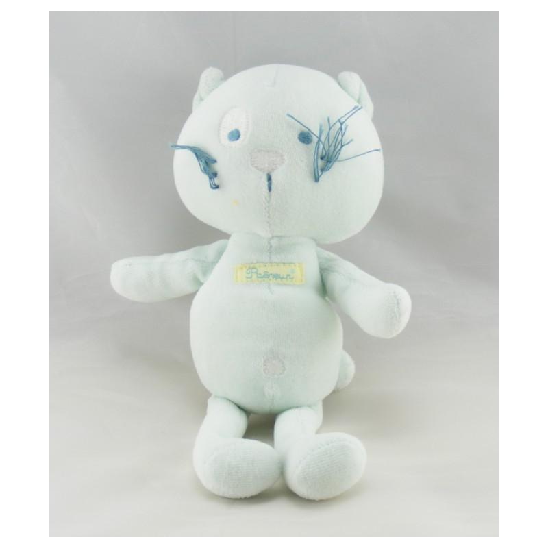 Doudou ours blanc noeud rose SERGENT MAJOR
