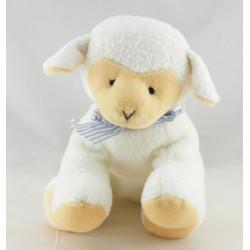 Doudou mouton blanc noeud rose ANNA CLU PLUSH