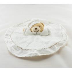 Doudou plat blanc ours dragée KALOO