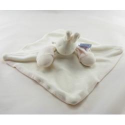 Doudou plat lapin blanc rose MOULIN ROTY