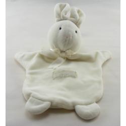 Doudou marionnette lapin blanc Calidoux Nature HISTOIRE D'OURS