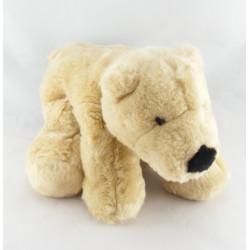 Doudou ours polaire blanc rose DEBBI
