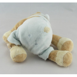 Doudou hippopotame salopette bleu NOUKIE'S
