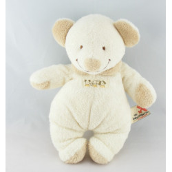 Doudou ours souris Beige col blanc NICOTOY