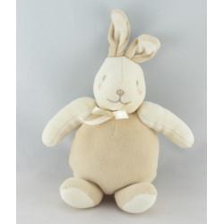 Doudou musical lapin beige blanc SUCRE D'ORGE