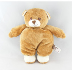 Doudou ours marron beige avec mouchoir ANNA CLUB PLUSH